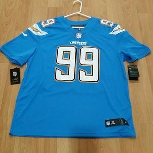 Nike Joey Bosa Powder Blue Jersey